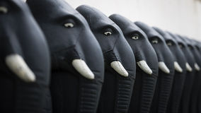 Esculturas dos elefantes no templo Fotos de Stock