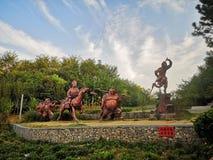 esculturas dos quatro deuses de Tang Monk imagens de stock royalty free
