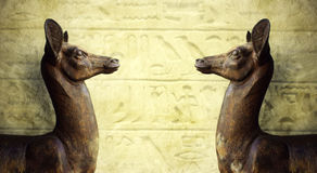 Esculturas egípcias foto de stock