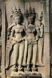 Esculturas em Angkor Wat imagens de stock