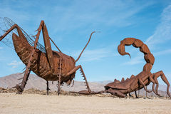 Esculturas em prados de Galleta Foto de Stock Royalty Free