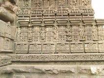 Esculturas en el templo gondeshwar Imagen de archivo libre de regalías