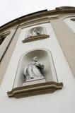 Esculturas en fachada de la abadía del St Gallen Fotografía de archivo libre de regalías