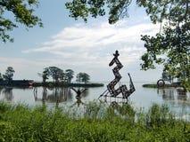 Esculturas en Juodkrant? (Lituania) Imagen de archivo libre de regalías