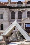 Esculturas exteriores do museu do pioneiro de Colorado Springs Foto de Stock