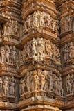Esculturas famosas de los templos de Khajuraho, la India fotografía de archivo