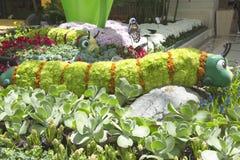 Esculturas florais no conservatório do hotel e do casino de Bellagio em Las Vegas Imagem de Stock Royalty Free