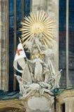 Esculturas góticas en la catedral del St. Stephan Fotos de archivo libres de regalías
