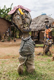 Esculturas hechas de los materiales reciclados Valle de Omo etiopía foto de archivo libre de regalías