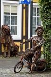 Esculturas hechas del metal Rietberg, Alemania Fotografía de archivo libre de regalías