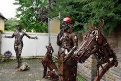 Esculturas hechas del metal Rietberg, Alemania Fotos de archivo libres de regalías