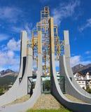 Esculturas imponentes de la calzada del ` s de Ushuaia fotografía de archivo libre de regalías