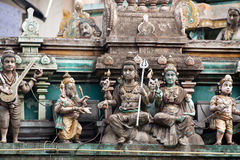 Esculturas indianas do templo imagens de stock