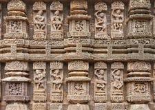 Esculturas magníficas del músico, templo Konark de Sun Fotografía de archivo