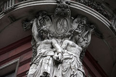 Esculturas no edifício velho Foto de Stock Royalty Free