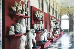 Esculturas no museu fotografia de stock
