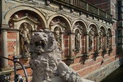Esculturas no palácio/castelo de Frederiksborg Imagem de Stock Royalty Free