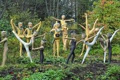 Esculturas no parque da escultura de Parikkala, Finlandia Imagens de Stock Royalty Free