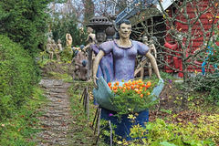 Esculturas no parque da escultura de Parikkala, Finlandia Imagens de Stock