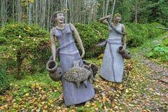 Esculturas no parque da escultura de Parikkala, Finlandia Imagem de Stock