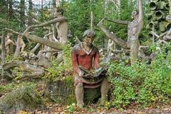 Esculturas no parque da escultura de Parikkala, Finlandia Fotografia de Stock