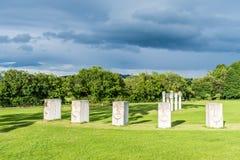 Esculturas no parque de Cabinteely, Dublin, Irlanda Fotos de Stock Royalty Free