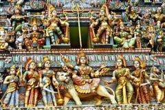 Esculturas no templo indiano Imagem de Stock