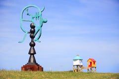 Esculturas por el mar en Bondi Australia Imagenes de archivo