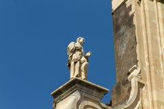 Esculturas y arquitectura de Catania Sicilia imágenes de archivo libres de regalías