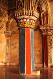 Esculturas y pilares ornamentales en el pasillo dharbar del pasillo del ministerio del palacio del maratha del thanjavur Fotos de archivo