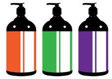 Escumalhas farmacêuticas médicas dos recipientes de vidros das garrafas do estilo liso ilustração do vetor