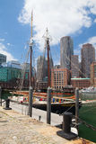 A escuna de Roseway no porto de Boston Imagem de Stock Royalty Free