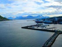 Escunas, barcos, barcos no cais noruega Verão 2012 Fotos de Stock Royalty Free