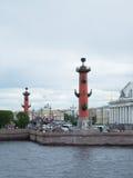 Escupitajo de Vasilyevsky Island Foto de archivo libre de regalías