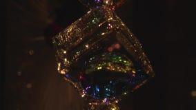 Escuridão abstrata do pendule do cubo video estoque
