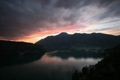 Escuridão alpina, Switzerland imagem de stock royalty free