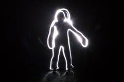 Escuridão humana do toque do borrão Foto de Stock Royalty Free
