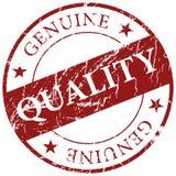 Escuro - ícone genuíno vermelho do carimbo de borracha do grunge da qualidade isolado ilustração stock