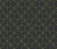 Escuro abstrato - fundo cinzento com linhas de cruzamento verdes Formas geom?tricas simples teste padrão sem emenda repetitivo do ilustração stock