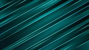 Escuro abstrato - fundo geométrico azul Linhas diagonais de incandescência de turquesa Projeto mínimo ilustração do vetor