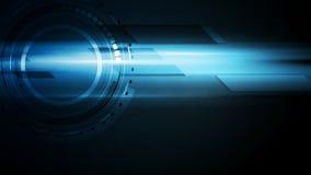 Escuro - animação video de incandescência da tecnologia azul