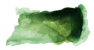 Escuro - aquarela verde Splat foto de stock