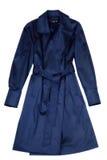 Escuro - azul um vestido fêmea Fotografia de Stock