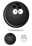 Escuro - bola de boliches cinzenta dos desenhos animados Imagens de Stock