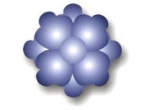 Escuro - bolha azul da flor Fotografia de Stock Royalty Free