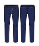 Escuro - calças azuis Foto de Stock
