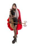 Escuro - capa de equitação vermelha Imagens de Stock Royalty Free