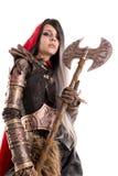 Escuro - capa de equitação vermelha imagem de stock royalty free
