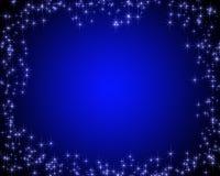 Escuro - cartão azul com estrelas Foto de Stock Royalty Free