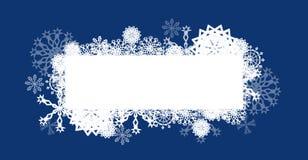 Escuro - cartão de Natal azul ilustração stock